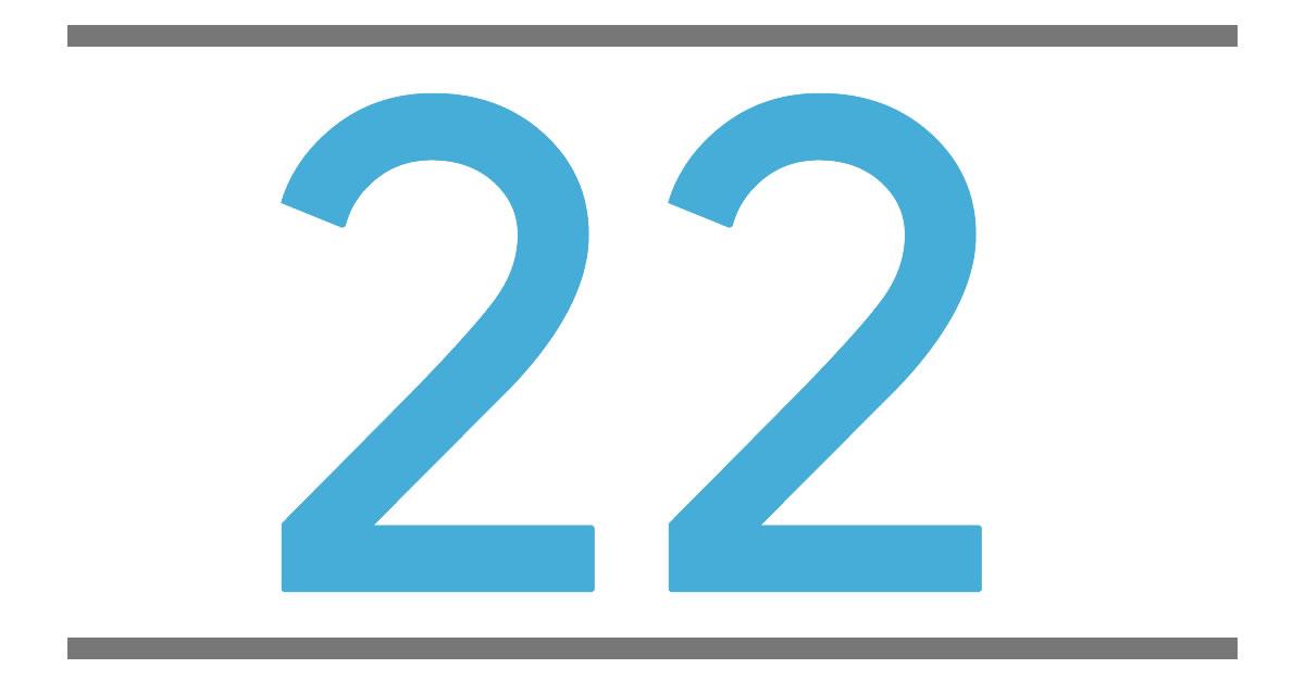 22 nombre signification